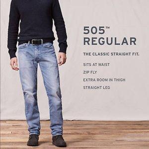 Levi's 505 men's straight FIT denim Jeans classic